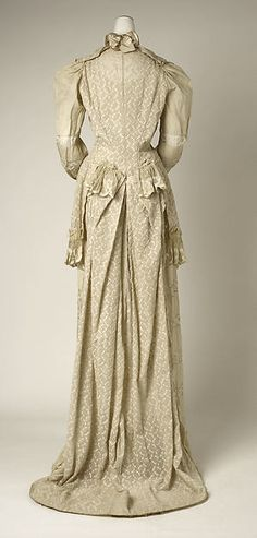early 1890s Tea Gown, American; cotton (view 4)