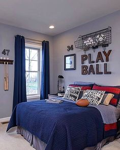 All about sports!  Love the fun details⚽️⚾️ Via Winchester Homes