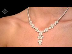 D3490 - Diamond Necklace Pyrus Halo 11.00CT in 18K Rose Goldf - YouTube