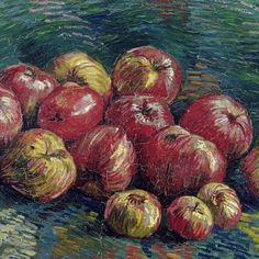 "lonequixote: "" Vincent van Gogh Apples (detail) """