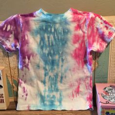 multi color tie dye tee. toddler 4T. unisex. tie by duvdesigns