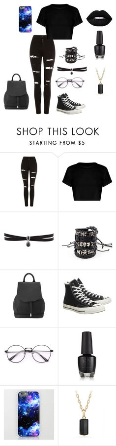"""Totally me!"" by emoemily21 on Polyvore featuring Topshop, Fallon, rag & bone, Converse, David Yurman, emo, goth, MyStyle and bemyself"