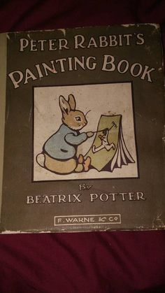 Peter Rabbits Painting Book. First Edition. First Print. 1911 by Clarinetcorkstore on Etsy