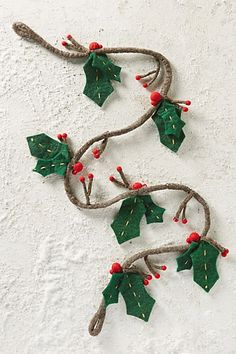 Jolly Holly Garland #anthropologie