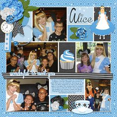 Kit: Nice to Meet You Alice (Kellybell Designs), Template: Pocket Story Template Volume 7