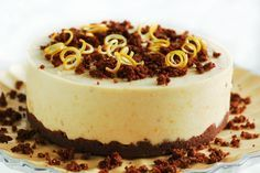 """Another beautiful looking raw dessert, this is Raw Orange Chocolate """"Cheesecake"""". Once again proving that good food even desserts can be beautiful delicious and still have live nutients to nourish our bodies"""