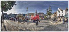 Hitchin Town Saturday Panorama - Hitchin Market Candids Candid, Street View