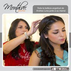 Toda la belleza angelical de Andrea Luna junto a su mamá en Montalvo Salon & Spa