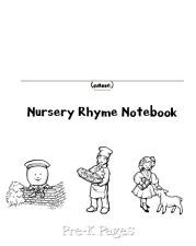 Nursery Rhymes notebook pages