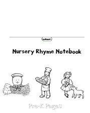 Nursery Rhymes notebook pages