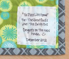 Quilts Made with Love quilt label