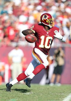 Robert Griffin III // Washington Redskins Damn he was fun to watch! Good luck in Cleveland!