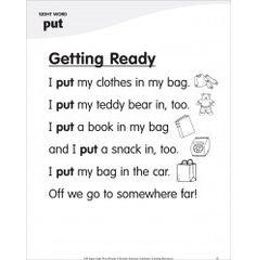 Getting Ready (Sight Word 'put'): Super Sight Words Poem