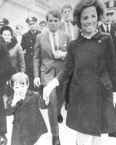 KennedyCollector — thekennedyclan: 1968, The RFKs campaigning with...