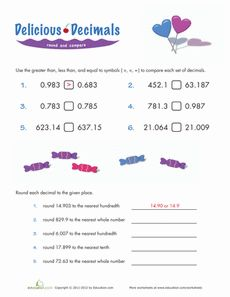 math worksheet : rounding decimal places  decimal rounding decimals and rounding : Rounding To Decimal Places Worksheet