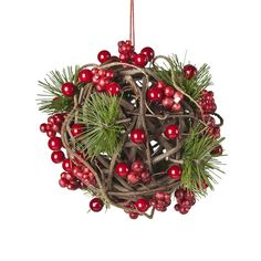 Hanging Red Berrie Ball by Sia