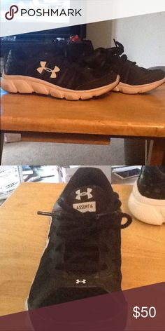 Boys Under Armour Assert 6 sneakers size 3Y Boys size 3Y Under Armour Assert 6 sneakers. Only had since Christmas & worn a few hours. Excellent & very clean condition. Perfect for back to school Under Armour Shoes Sneakers