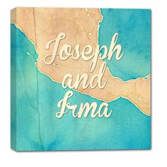 Anniversary Map canvas - i can customize it anyway you want :)