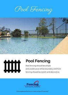 Pool Fencing https://www.liveinfographic.com/i/pool-fencing/ Tags: #infographic  #infographics #popular #pinterest #pinterestinfographics