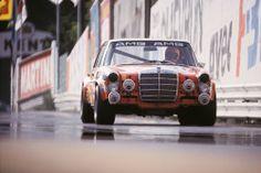Red pig. Mercedes Benz SEL 6.8 AMG of Hans Heyer, Spa 1971