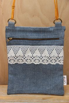 Denim recycled pocket bag denim purse upcycled denim