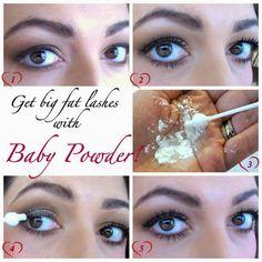 baby powder eye lashes