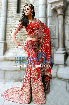 Deep Red Viscardo, Product code: DR1096, by www.dressrepublic.com - Keywords: Amira London, Amira Bridals London, Amira Indian Fashion Boutiques London