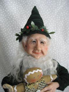 SANTA'S HAPPY ELF  Terry Richards Art Doll  by CreativeIndulgences