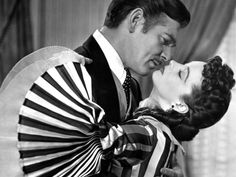 Clark Gable and Vivian Leigh as Rhett and Scarlet