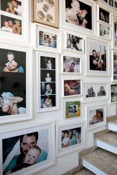 parede de fotografias. <3