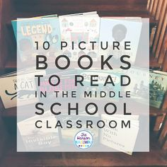 Picture Books in Middle School | Using picture books in your classroom can engage reluctant readers, help introduce a lesson, and build community. Check out tips & resources for using picture books in middle school from The Hanson Hallway at The Secondary English Coffee Shop.