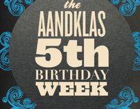 Aandklas 5th Birthday Celebration (Poster) by Peter Crafford, via Behance