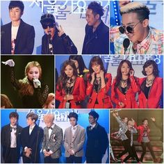 Winners from the '22nd Seoul Music Awards'