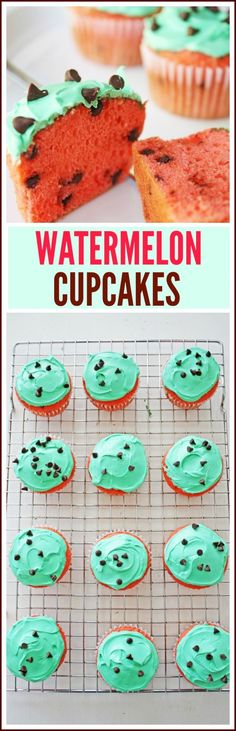 Watermelon Cupcakes for Summer | CatchMyParty.com