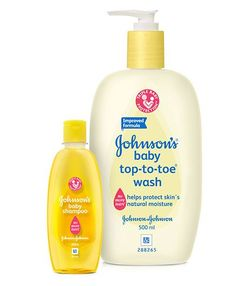 Johnson's baby Top to Toe Wash - 500 ml and Johnson's baby Shampoo - 200 ml