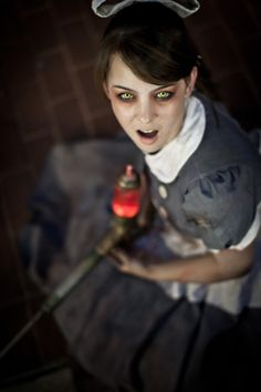Spooky Little Sister cosplay from Bioshock (one of my favorite games of all time)