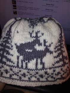 8f659b37c76 Mating reindeer cap. Winter SweatersWinter HatsNovelty HatsUgly Christmas  SweaterReindeer3BeanieKnitsChristmas Ideas