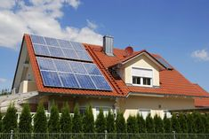 Solar panels on a house roof ,Photovoltaic. Solar panels on a house roof , Solar Panel Cost, Solar Energy Panels, Solar Panels For Home, Best Solar Panels, Solar Panel System, Solar Energy System, Solar Power, Power Led, Installation Solaire