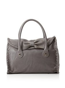 RED Valentino Women's Whipstitched Bow Handbag, Grey