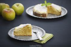 Pastel de manzana y queso