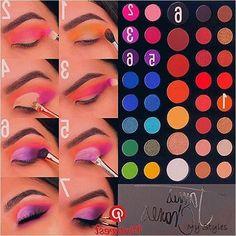 makeup pictorial with james charles eyeshadow palette Makeup Eye Looks, Eye Makeup Steps, Eye Makeup Art, Dark Skin Makeup, Beautiful Eye Makeup, Elf Makeup, Makeup Ideas, Creative Eye Makeup, Colorful Eye Makeup