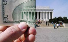 "Tip: Put things in ""perspective."" A straight-on shot is the most obvious one to take of the Lincoln Memorial, as it puts the main subject front and center. But including other objects in the picture, like this $5 bill, adds a creative element of whimsy to what might otherwise be a dime-a-dozen postcard image. (From: Photos: 25 Most Photographed Places )"
