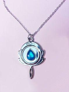 Lapis Lazuli Spiegel Edelstein Halskette Crystal Gems