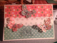 A Get Well card handmade by me