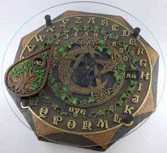 Ouija Board Ouijua Talking Board Spirits Witch Board Black Cat Planchette Wicca