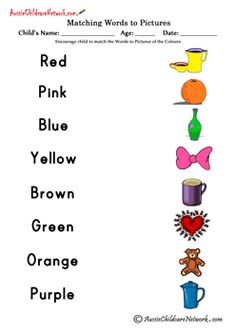 Print Your Color Matching Worksheet Free Printable