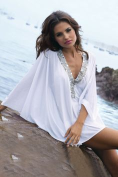 102c1720cfd AguaClara Swimwear 'Rose White Cover Up' Beach Cover Up by AguaClara 2013