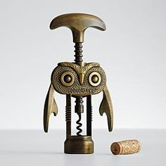 How adorable is this Hootch Owl corkscrew ? Red Envelope launched this vintage inspired owl shaped corkscrew based on the fam. Great GiftsUnique ...