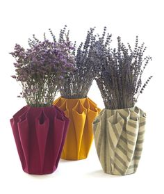 """PARA O QUARTO - """"There are always flowers for those who want to see them"""".  Origami Vases by…"""