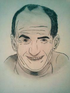 Louis de funes  •dessin crayon•